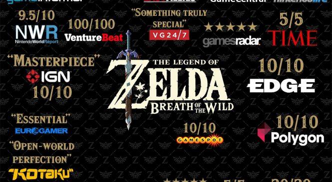 Zelda Switch incelemesinde tarihi puan: %98