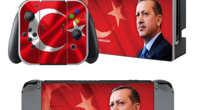 Oyun firmasından Recep Tayyip Erdoğan temalı Nintendo Switch Koruyucu Kaplama!