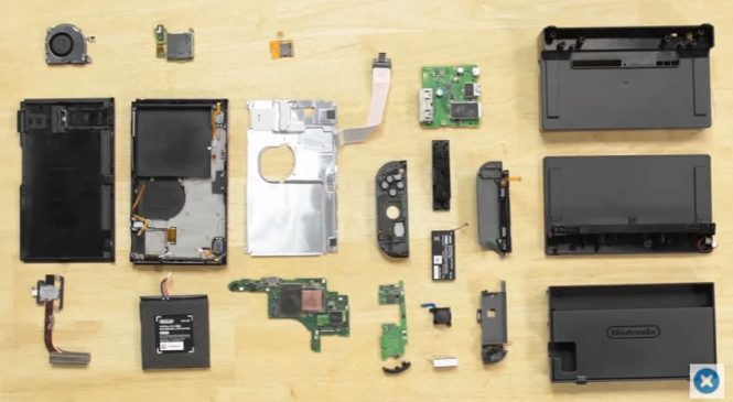 IFIXIT den Nintendo Switch e 10 üzerinden 8