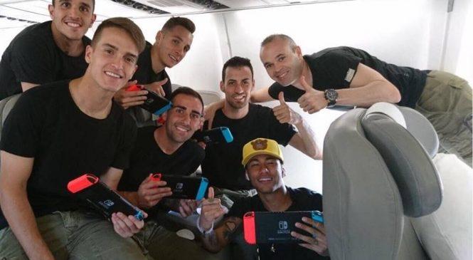 Barcelona'lı futbolcuların Nintendo Switch Keyfi!