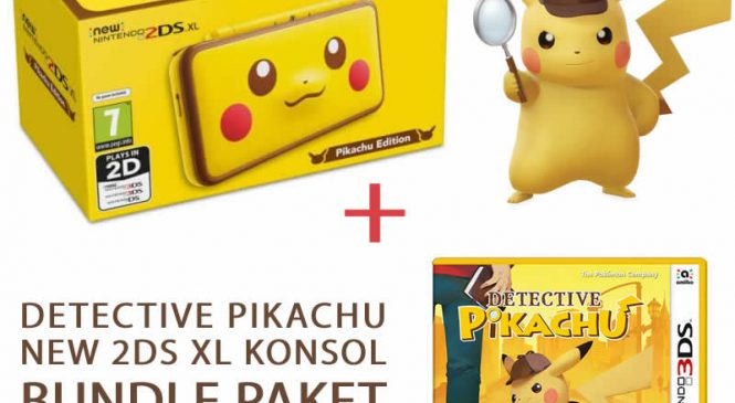 Detective Pikachu 3DS Oyun New 2DS XL Pikachu Edition Konsol Bundle Paket Çıktı!
