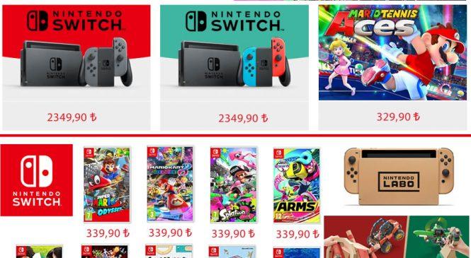 Nintendo Türkiye ürünleri satışa sunuldu!